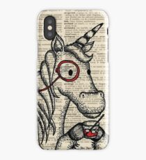 Unicorn with Monocle iPhone Case