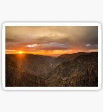 Sunset Overlook - Black Canyon of the Gunnison National Park, Colorado Sticker
