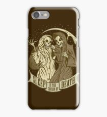 Sleep is the cousin of Death iPhone Case/Skin