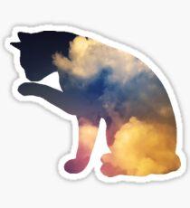 Cloud Cat Sticker