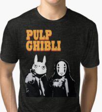 Pulp Ghibli - Studio Ghibli and Pulp Fiction Tri-blend T-Shirt