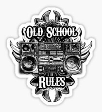 Old School Rules! Sticker