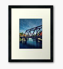 Swing Bridge Framed Print
