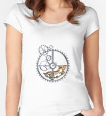 Industrial Silver Dog Women's Fitted Scoop T-Shirt