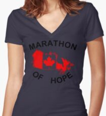 Marathon of Hope, 1980 Women's Fitted V-Neck T-Shirt