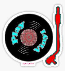 Play Vinyl T-Shirt Sticker