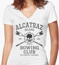 Alcatraz Rowing Club Women's Fitted V-Neck T-Shirt
