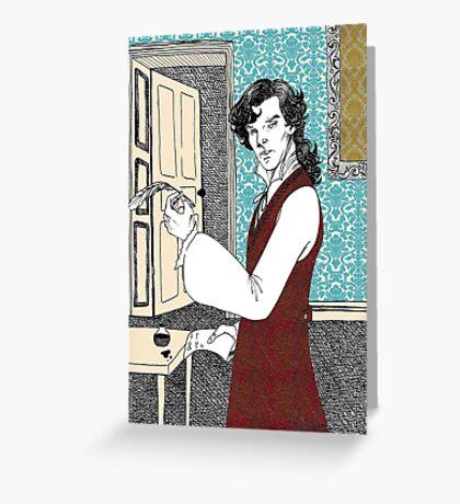 Libertine Sherlock  Greeting Card