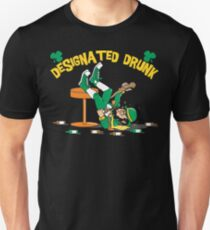 "St Patrick's Day ""Designated Drunk"" Dark T-Shirt"
