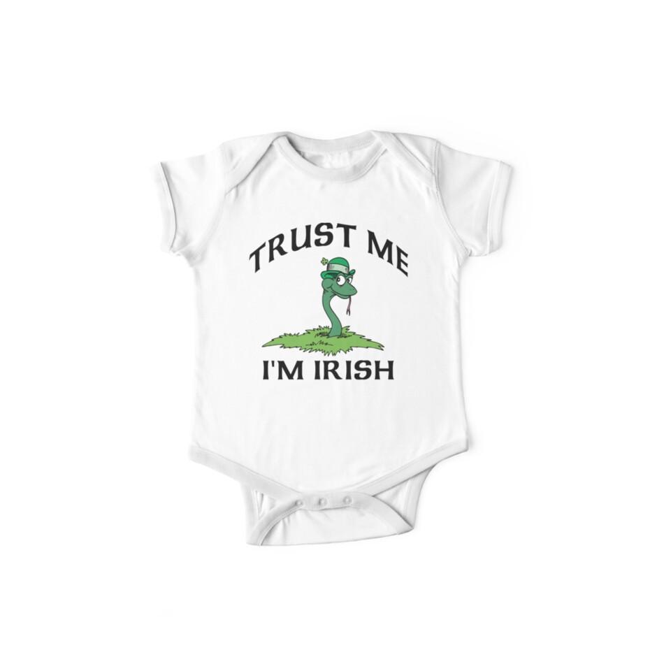 """Funny Irish """"Trust Me I'm Irish"""" by HolidayT-Shirts"""