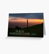 Sulis Manoeuvre calendar cover Greeting Card