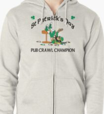Irish Pub Crawl Champion Zipped Hoodie