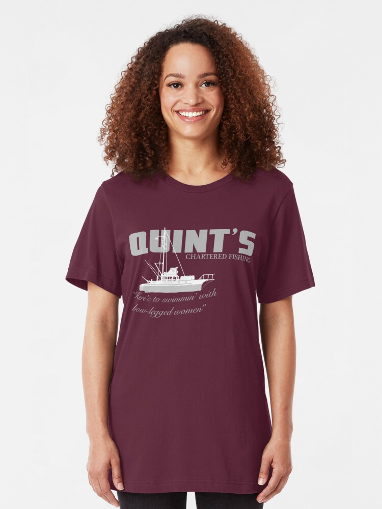 Alternate view of Quint's Chartered Fishing Slim Fit T-Shirt