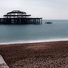 Burn West Pier - Brighton by Mattia  Bicchi Photography