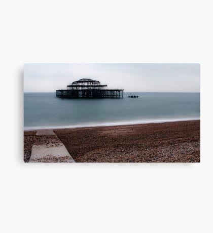 Burn West Pier - Brighton Canvas Print