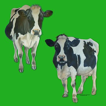 Two Cows on Green by grounddogs