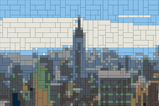 Lego Building Plan Art New York City Skyline Posters By Aapshop