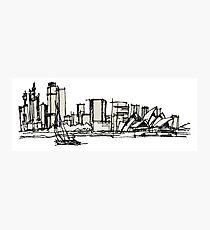 Sydney Silhouette Photographic Print