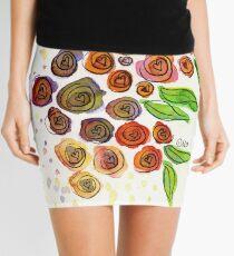 Watercolor Flower Bunch Mini Skirt