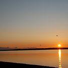 Sunset from Lopez Island by Deborah Singer