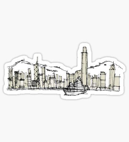 Hongkong Silhouette Sticker