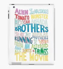 Rick and Morty Two Brothers Handlettered Quote iPad Case/Skin