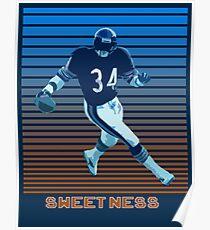 Walter Payton Sweetness Poster