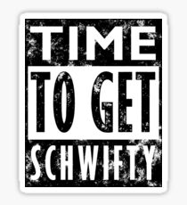 Rick and Morty Get Schwifty Lyrics Print Sticker