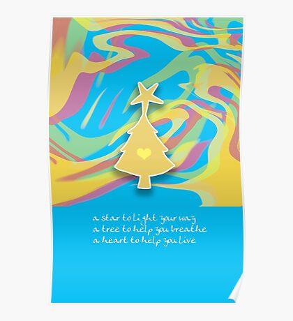 Christmas Card - Swish Wish Tree Poster