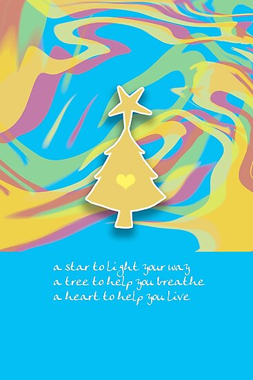 Christmas Card - Swish Wish Tree by © Karin Taylor