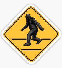Caution! Bigfoot Crossing! Sticker