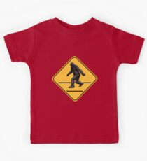 Caution! Bigfoot Crossing! Kids Clothes