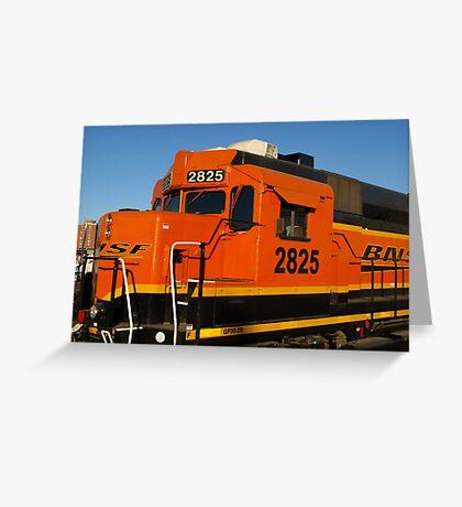 Big Orange Engine Greeting Card