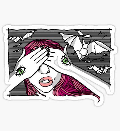 KatzxKarma Bats Her Eyes Sticker