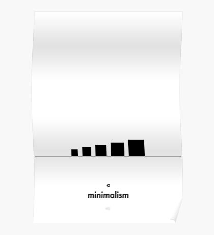 99 Steps of Progress - Minimalism Poster