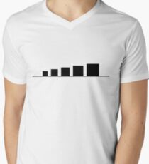 99 Steps of Progress - Minimalism Men's V-Neck T-Shirt