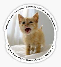 Kitten protest tee 1 Sticker
