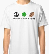 Peace Shamrock Rugby Classic T-Shirt
