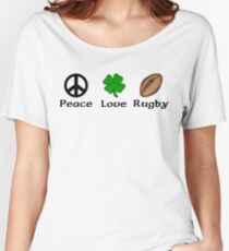 Peace Shamrock Rugby Women's Relaxed Fit T-Shirt