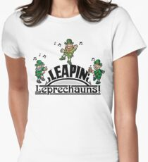 Leaping Leprechauns Women's Fitted T-Shirt
