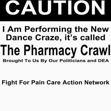 Caution Protest T-shirt by paincare