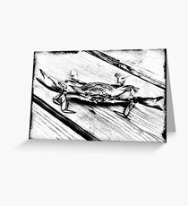 Crab- Ansel & silver gelatin effects Greeting Card