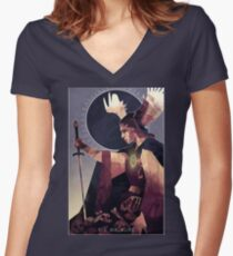 Die Walküre (The Valkyrie) Women's Fitted V-Neck T-Shirt
