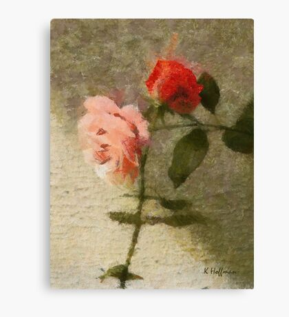 Rose Cross Canvas Print