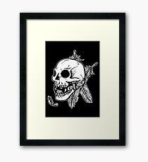 Skull Ball Gag Feathers Framed Print