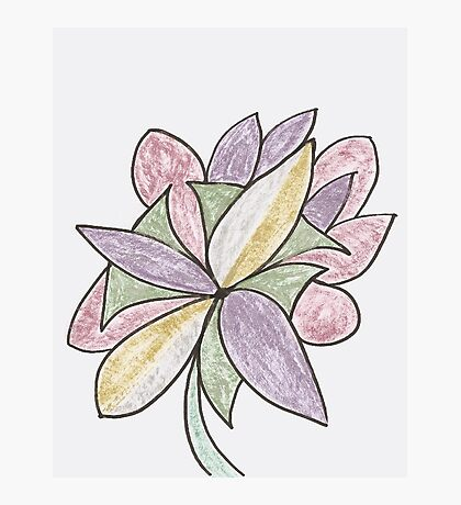 Carnivaled Flowers (a Bouquet of Pastel Colours) Photographic Print