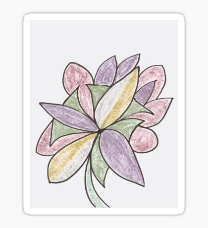 Carnivaled Flowers (a Bouquet of Pastel Colours) Sticker