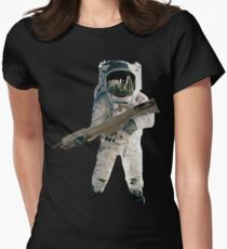 Astro the fun naut: WITH A LAZAR GUN!!!! Women's Fitted T-Shirt