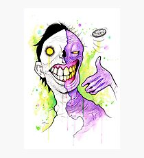 Two-Face Photographic Print