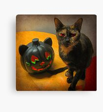 Happy Halloween Kitties Canvas Print